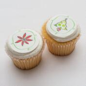 Ticings Holiday Flora Icing Toppers, 15-Count