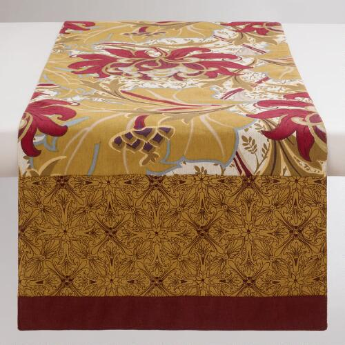 Floral Artiste Reversible Table Runner