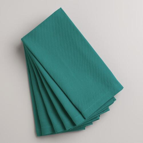 Deep Jungle Teal Buffet Napkins, Set of 6