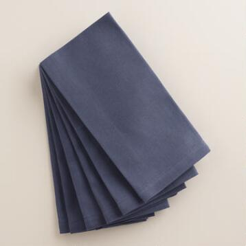 Indigo Buffet Napkins, Set of 6