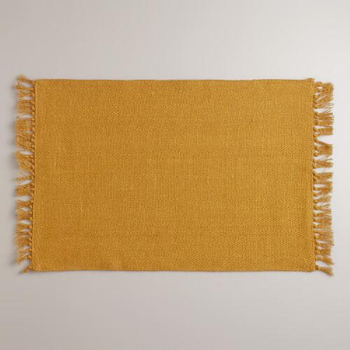 Harvest Gold Herringbone Placemats, Set of 4