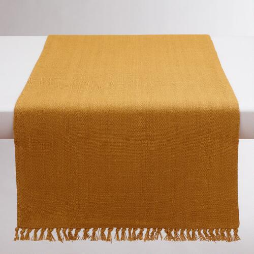 Harvest Gold Herringbone Table Runner