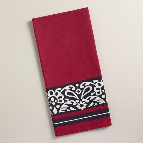 Red Maison Kitchen Towel