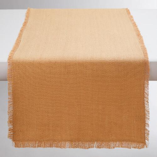 Oversized Natural Herringbone Table Runner