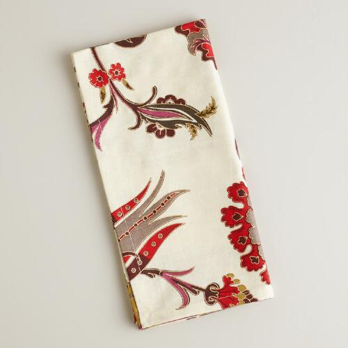 Nouveau Feathers Napkins, Set of 4