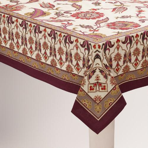 Nouveau Feathers Tablecloth