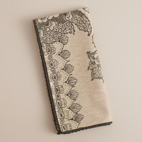 Nouveau Paisley Napkins, Set of 4