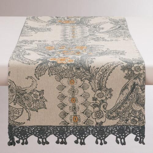 Nouveau Paisley Table Runner
