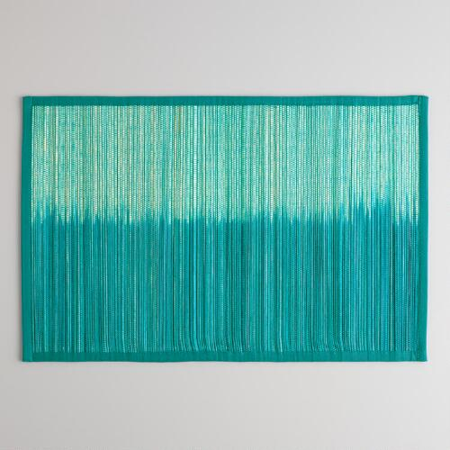 Deep Teal Ombre Placemats, Set of 4