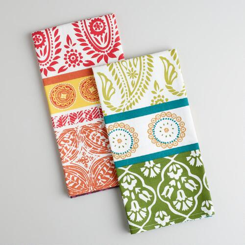 Urban Paisley Kitchen Towels, Set of 2