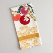 Persimmon Block Print Kitchen Towel