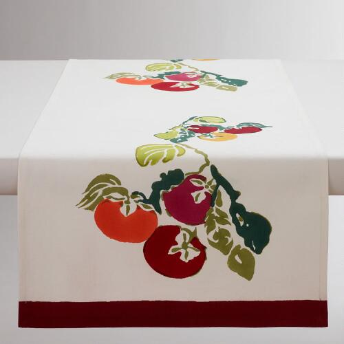 Persimmon Block Print Table Runner