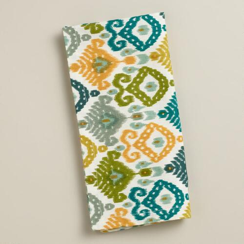 Green Ikat Urban Dweller Napkins, Set of 4