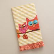 Two Owls Decorative Tea Towel