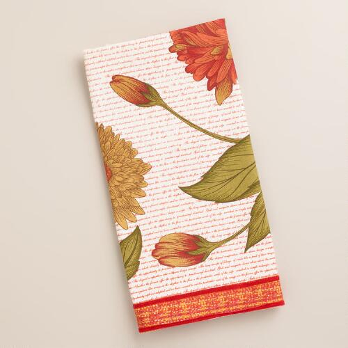 Floral Harvest Tea Towel