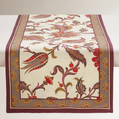 Nouveau Feathers Table Runner