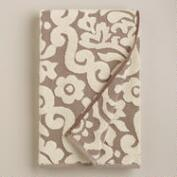 Taupe Darlington Sculpted Bath Towel