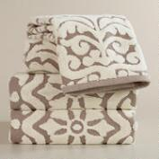 Darlington Sculptural Bath Towel Collection in Taupe