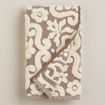 Taupe Darlington Sculpted Hand Towel