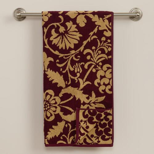 Romantic Floral Jacquard Bath Towel