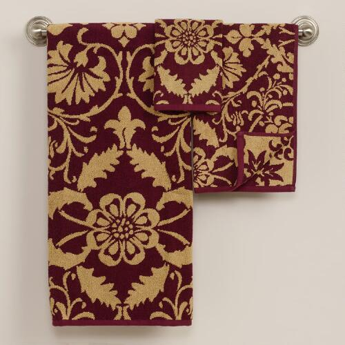 Romantic Floral Jacquard Bath Towel Collection