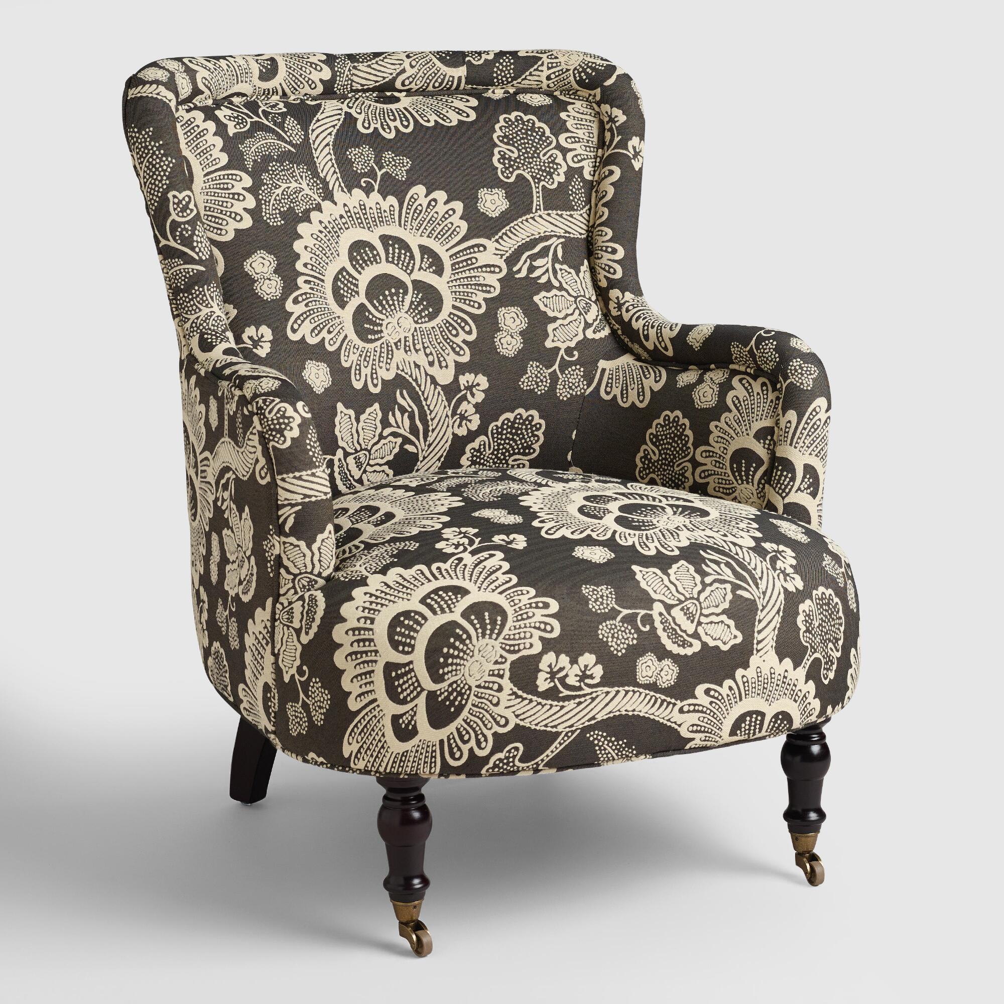 Black And White Floral Reading Chair World Market