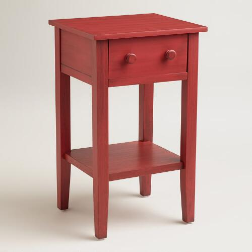 Red Sara Nightstand