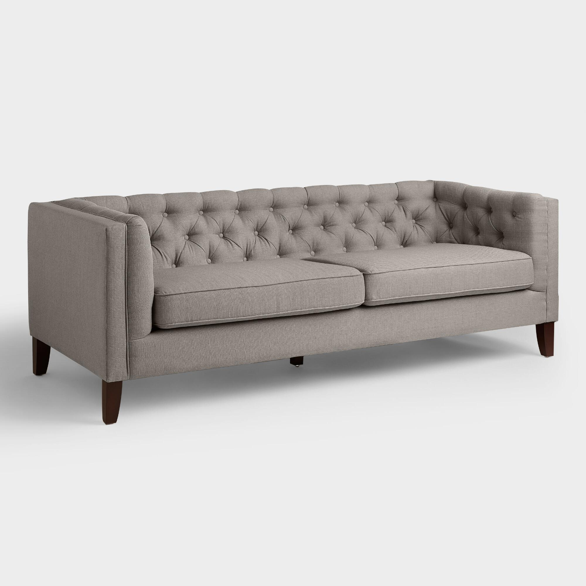 fog gray kendall sofa world market