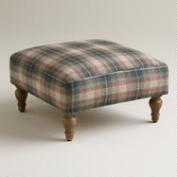 Plaid Hendrik Footstool