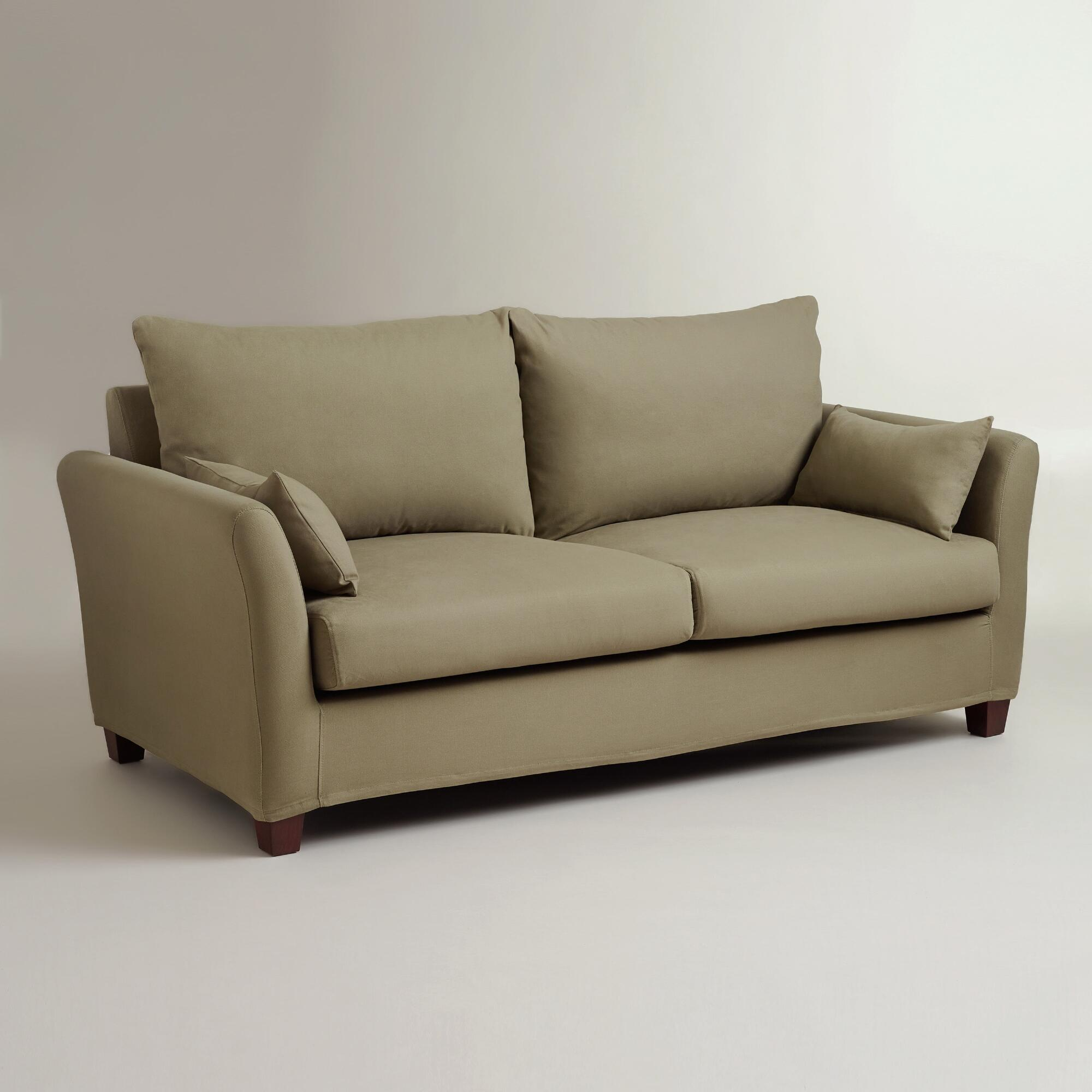 Sage luxe sofa slipcover world market for Outdoor furniture covers world market