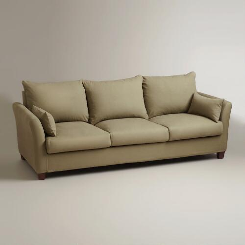 Sage Luxe 3-Seat Sofa Slipcover