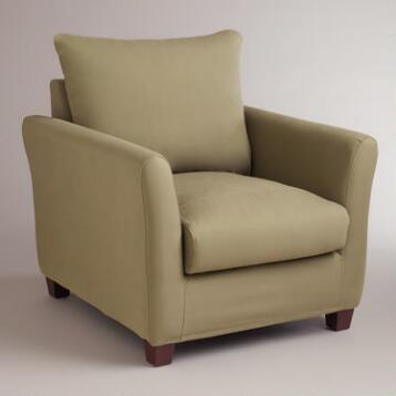 Sage Luxe Chair Slipcover