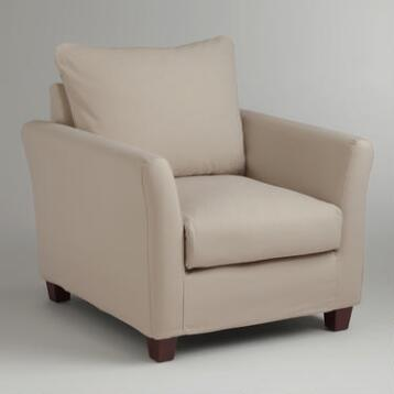 Stone Luxe Chair Slipcover