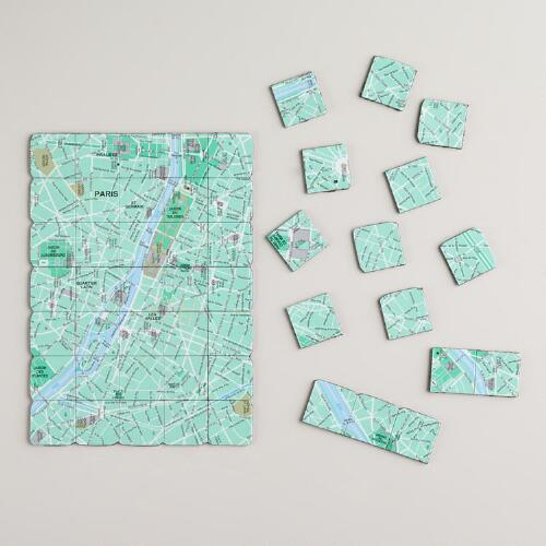 Map of Paris Magnets