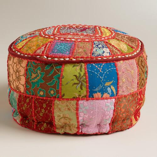 Small Red Pouf