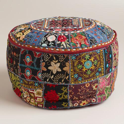 Small Black Pouf