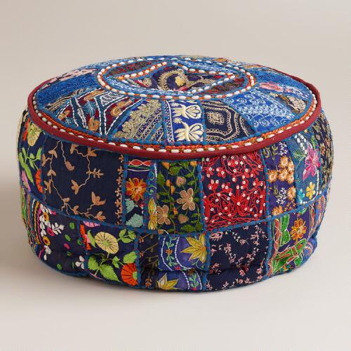 Small Blue Pouf