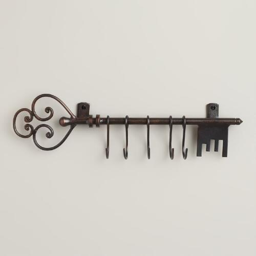 Antique Bronze Iron Key Hook