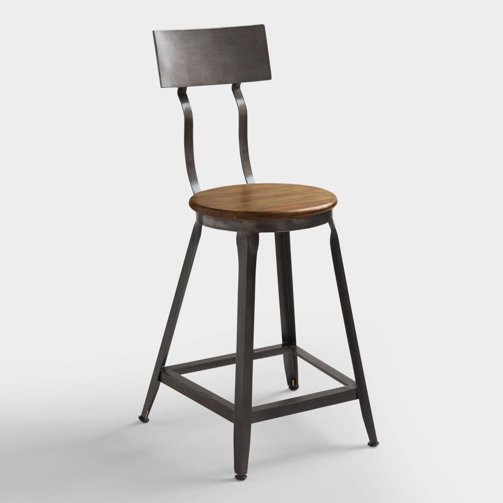Hudson counter stool world market for Stool chair