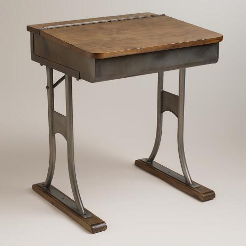 Gunmetal Schoolhouse Desk