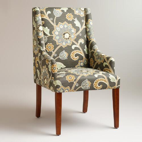 Gray Floral Hayden Dining Chair