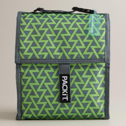 Green Lightning PackIt Freezable Lunch Bag
