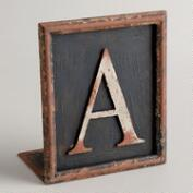 A Letter Bookend