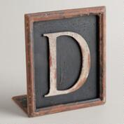 D Letter Bookend