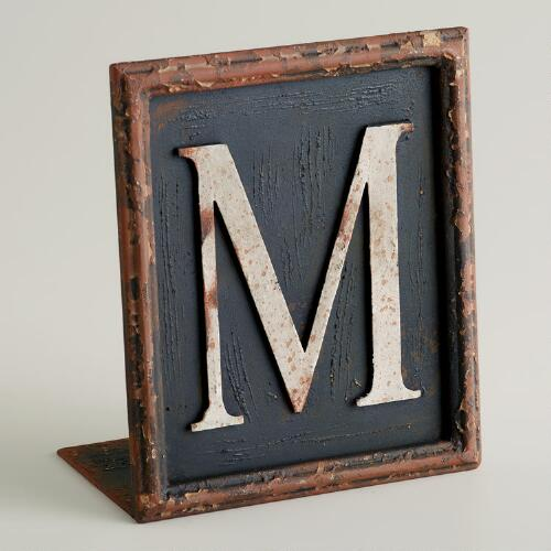 M Letter Bookend