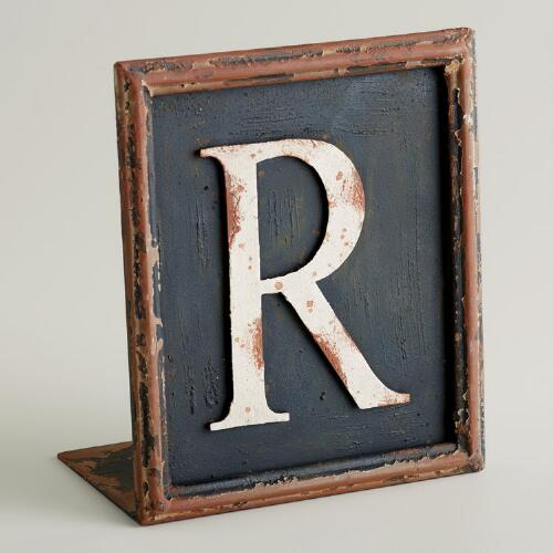 R Letter Bookend