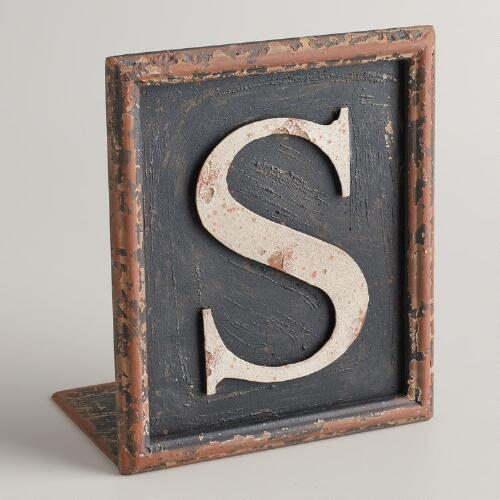 S Letter Bookend