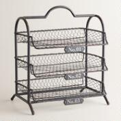 Espresso Austin 3-Tier Wire Tray