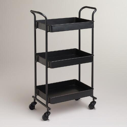 Espresso Austin Metal 3-Tier Cart