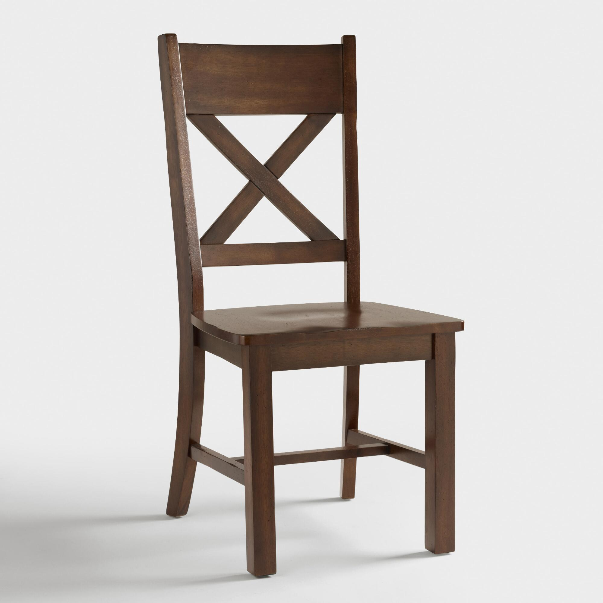 Mahogany verona side chairs set of 2 world market for Kitchen chairs